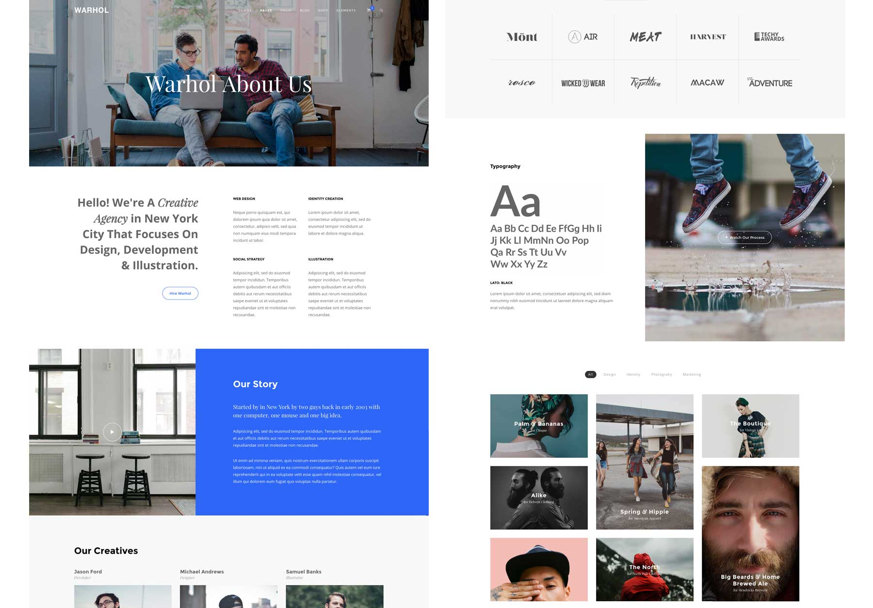 Wharhol HTML Layouts Purpose Built Content Blocks